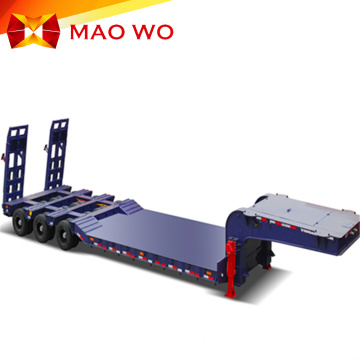 excavator transport  multi axle low loader trailer